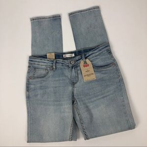 NWT LEVI'S 711 Skinny Girl's Blue Jeans Size 16
